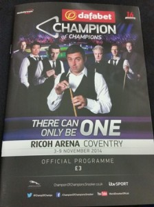 Champion of Champions 2014 program